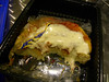 Continental Airlines. Cheese pizza that I covered in ranch dressing. Looks gross, but I love all pizzas edit